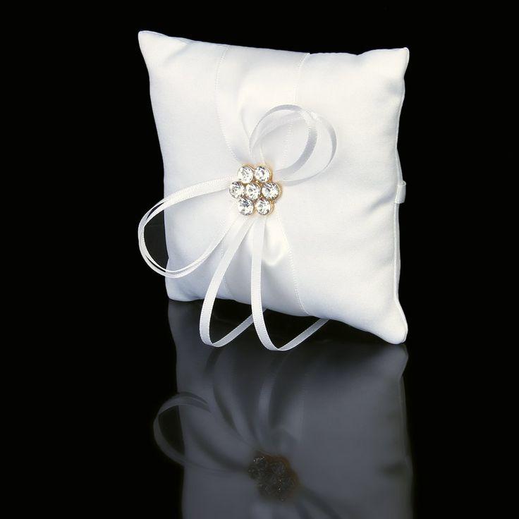 Raso Avorio Diamante Tasca Festa Di Nozze Del Fiore Cuscino Cuscino Dell'anello: Amazon.it: Casa e cucina