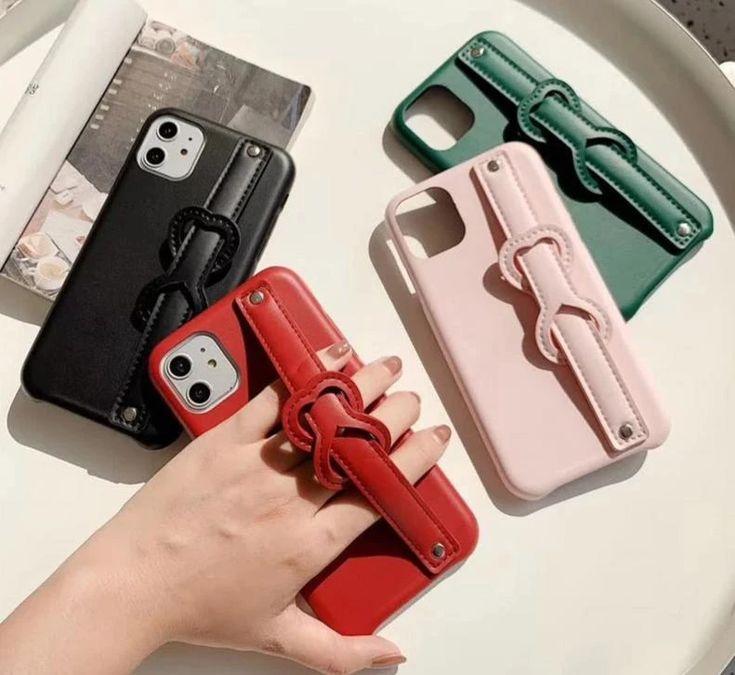 Colorful fingerhand strap phone holder casecover for
