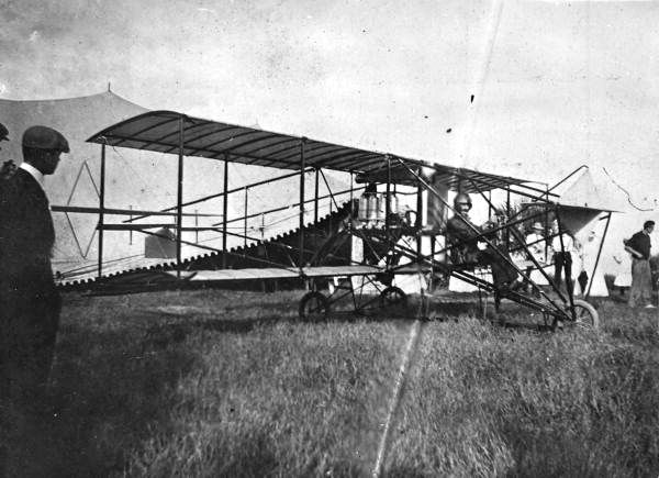 Florida Memory - Traveling plane, early 1900s - Merritt Island, Florida