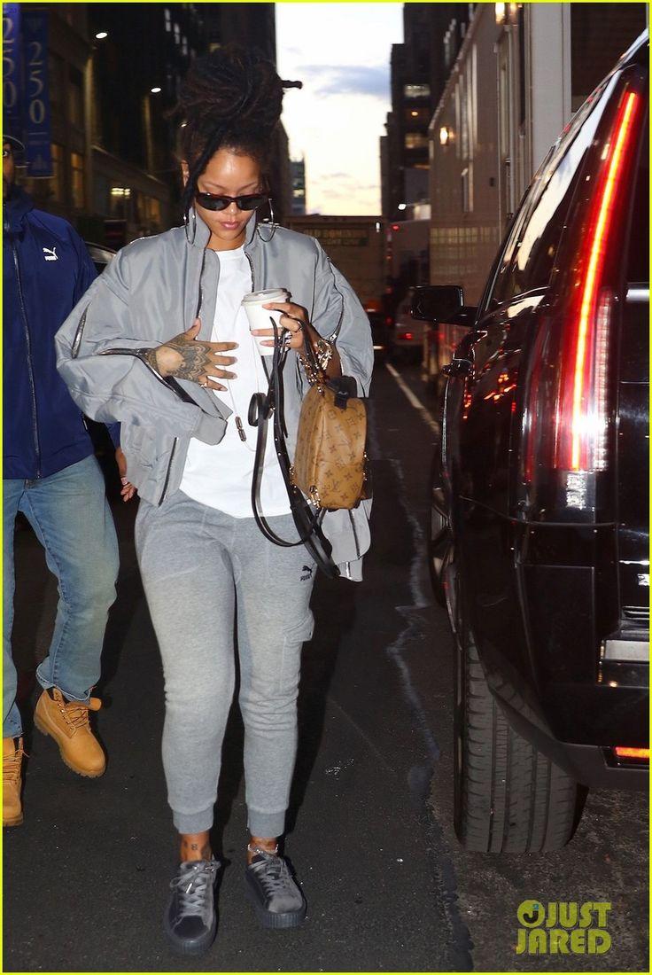 Rihanna Arrives to 'Ocean's Eight' Set in Her Fenty x Puma Velvet Creepers!