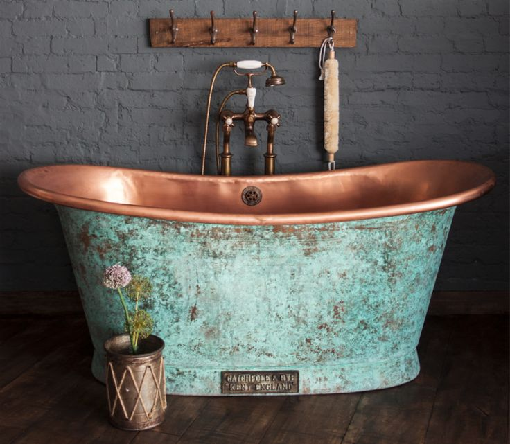 The Copper Bateau in weathered copper, Catchpole & Rye, £4.500 + VAT, 170cm x 71cm x 72cm