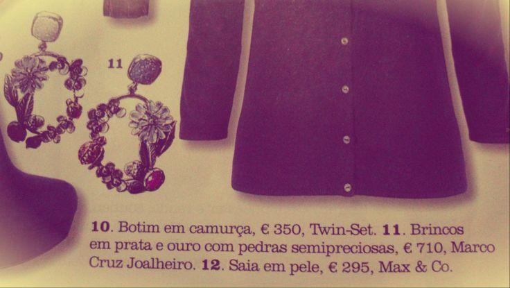 Elle Portugal | Edição de Janeiro 2014 #MCJoalheiro #Elle # Earrings #Brincos #Jewellery #Portugal