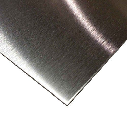 "Online Metal Supply 304 Stainless Steel Sheet .035"" (20 ga.) x 12"" x 18"" - #4 Brushed Finish. For product & price info go to:  https://all4hiking.com/products/online-metal-supply-304-stainless-steel-sheet-035-20-ga-x-12-x-18-4-brushed-finish/"