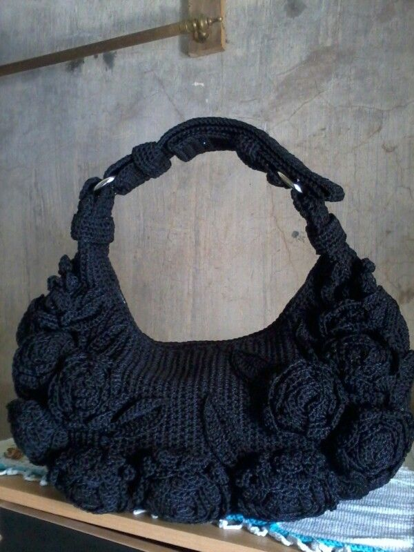 crochet bag flower