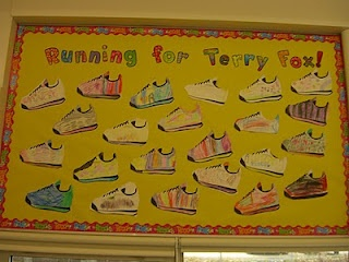 Terry Fox Bulletin Board...