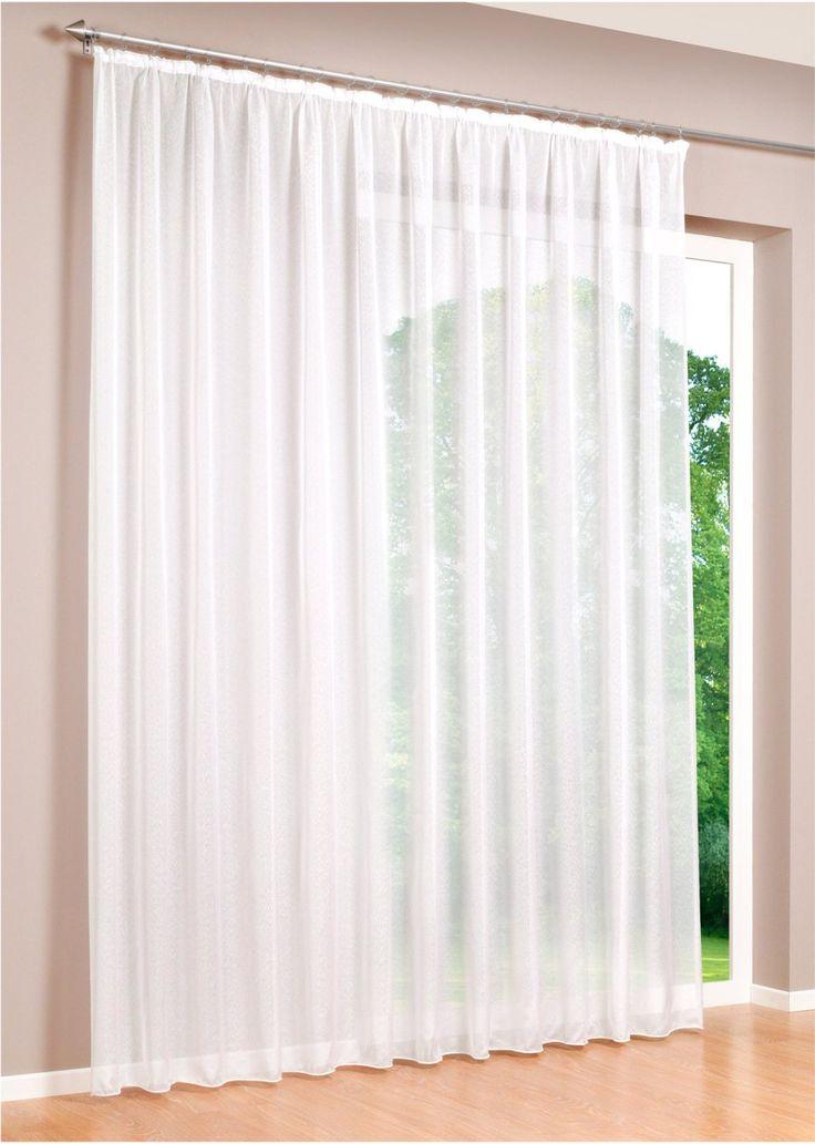 """Jetzt anschauen: Dezente Fensterdekoration mit einem Hauch Eleganz: die transparente Gardine """"Mainz"""" aus hochwertiger Sable-Qualität überzeugt mit ihrem leichtem Glanz. Wir empfehlen die 3-fache Fensterbreite zu bestellen."""