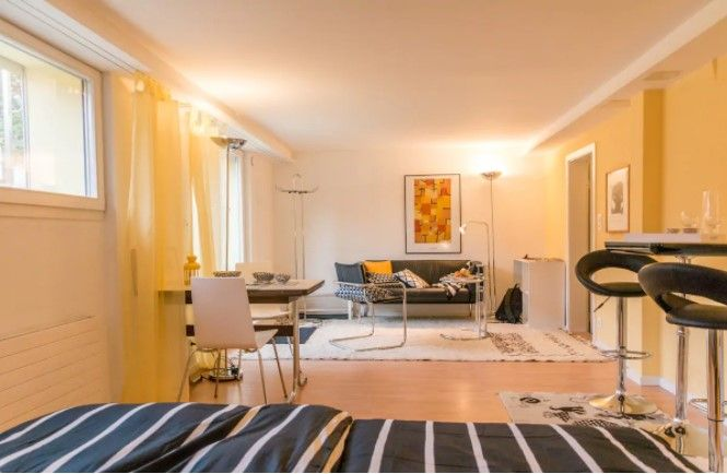 Quiet Stylish Garden Apartment10min From Center Apartments For Rent In Muri Bei Bern Bern Switzerla One Bedroom House Apartment Bedding One Bedroom Apartment