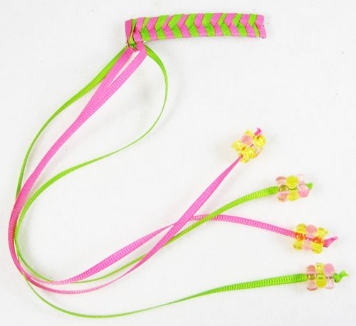 Tutorial--Retro 80s Braided Ribbon Barrettes... I had a bunch in every color of the rainbow that my mom made for me!