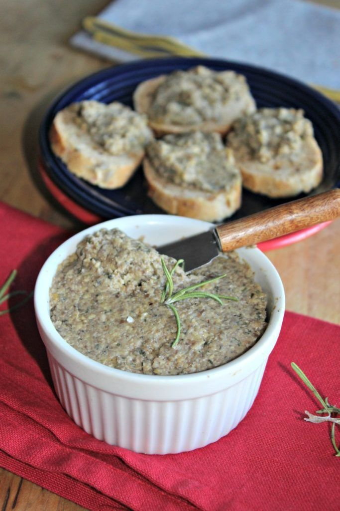 Jump To Recipe Print Recipe A Twist On The Traditional Pate That Is Made With Liver This Mushroom Pate Is A W Pate Recipes Appetizer Recipes Stuffed Mushrooms