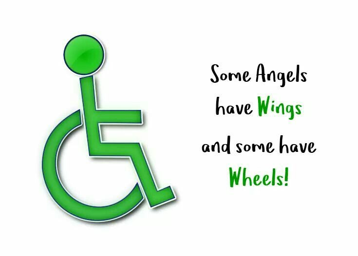 Some Angels have wings and some have wheels! Cerebral Palsy awareness.