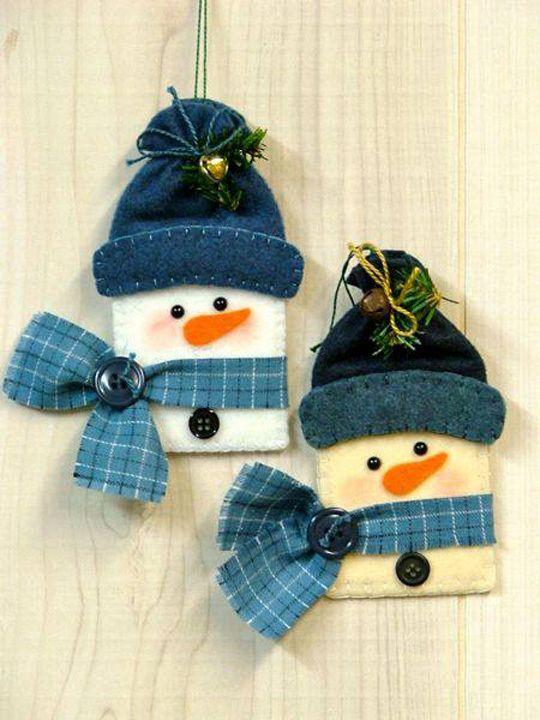 feltro bonecos de neve