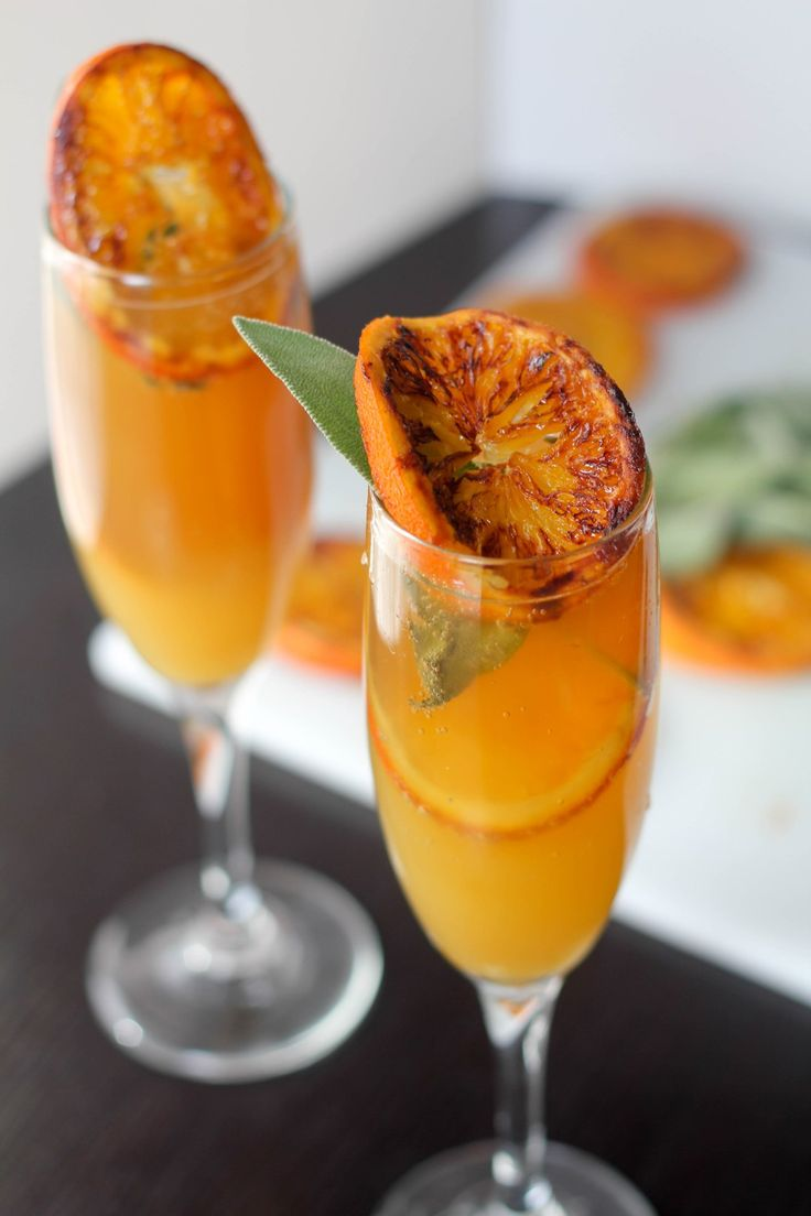 Pineapple Mimosa with Caramelized Orange and Sage | The Seasoning Bottle