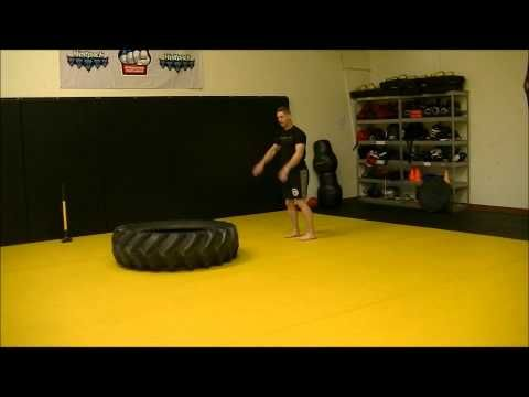 Extreme 15 Minute Tire Workout Video by UFC/Olympic Trainer Ken Pytluk. http://www.ESP-XC.com