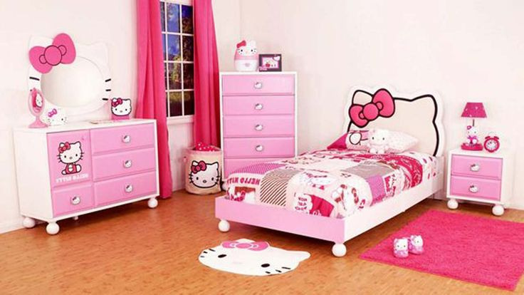 Awesome Hello Kitty Room Design For Girl ~ http://www.lookmyhomes.com/hello-kitty-room-designs-ideas-for-girl/