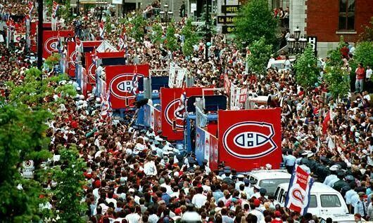 1993 Stanley Cup parade in Montreal.