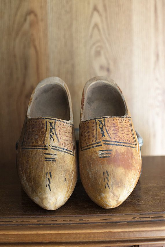 Dutch Wooden Shoes♥ Vintage Small Cottage Decor