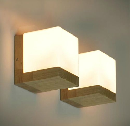 Modern-Oak-Wood-Wall-Lamp-Glass-Cover-Light-DIY-Lighting-Home-Cafe-Simple-Design