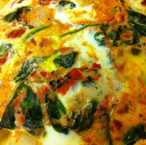 Baked Eggs with Spinach and Tomatoes - An absolutely ...