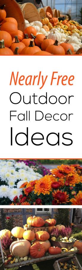 Check out these Nearly Free Outdoor Fall Decor Ideas!  For more gardening or outdoor decor ideas CLICK to visit this great site!