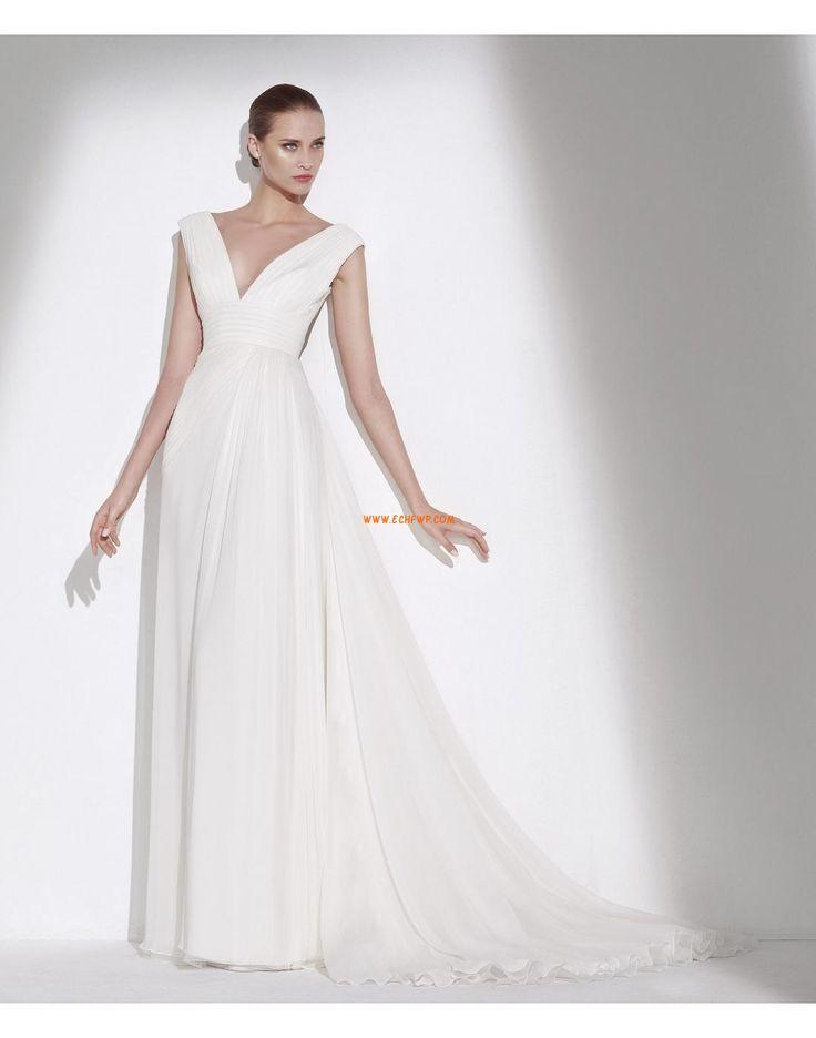 Hall A-vonalú Empire Menyasszonyi ruhák 2015