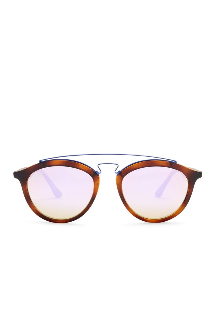 The perfect gift: Ray-Ban Women's Round Browline Sunglasses