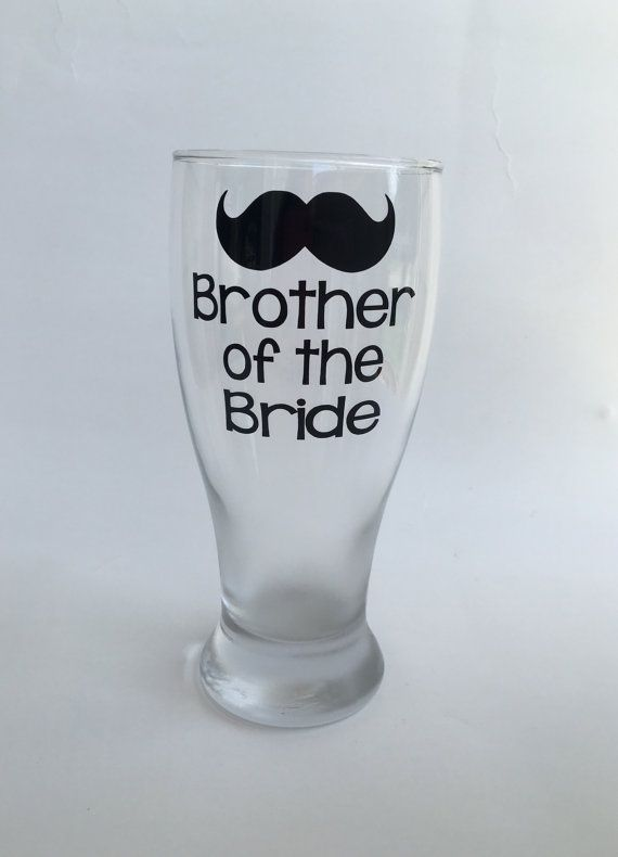 This is the perfect gift for the Brother of the bride or groom to drink from on the wedding day and a sweet reminder of that day afterwards! If you would like to guarantee that your item leaves PrettyLittleVinyls within 7 BUSINESS days, you must purchase the listing provided below - Please also allow 2-4 days for standard USPS delivery. https://www.etsy.com/listing/175240744/guaranteed-7-business-day-shipping?ref=shop_home_active_1 Please note, glass style may vary based on availability…