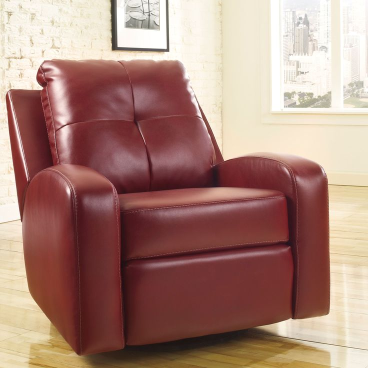 Mannix DuraBlend Red Contemporary Swivel Glider Recliner by Signature Design by Ashley & Best 25+ Contemporary recliner chairs ideas on Pinterest | Brown ... islam-shia.org