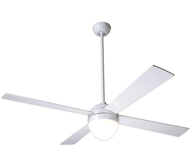Minimalist Ceiling Fan: Modern Fan BAL-BA-650 Ball 52 Inch Brushed Aluminum Ceiling Fan,Lighting