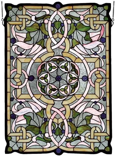 Gaelic Tapestry In Green Window stained glass window
