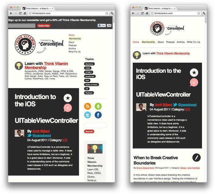 beginner's guide to responsive web design (more examples: www.mediaqueri.es)