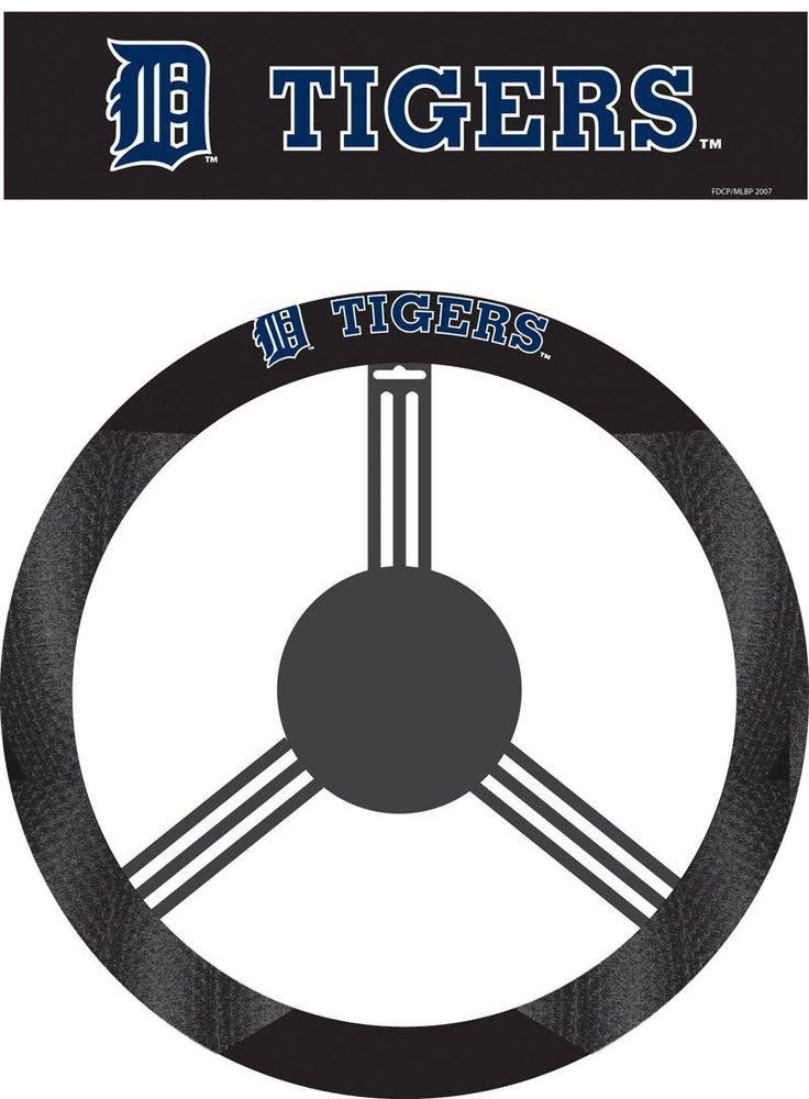 Detriot Tigers Poly-Suede Steering Wheel Cover