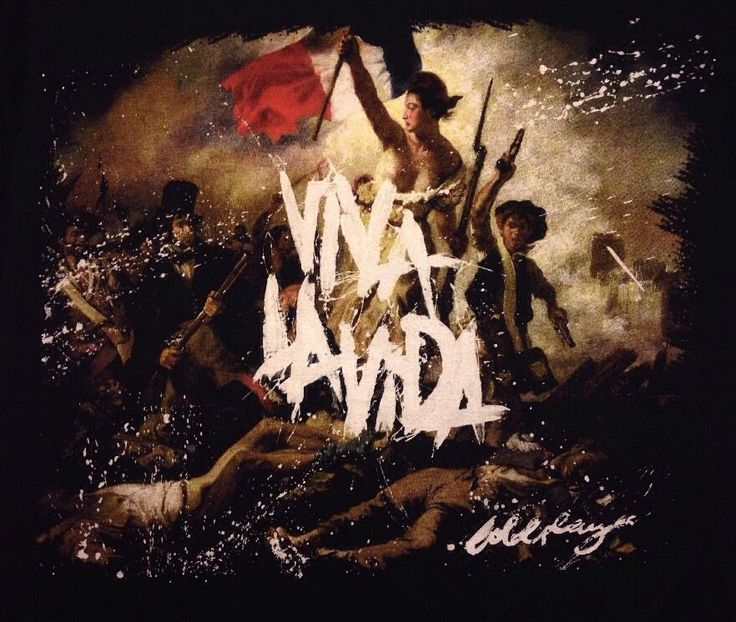 COLDPLAY Viva La Vida Tour 2008 Concert Black T-Shirt Size Small