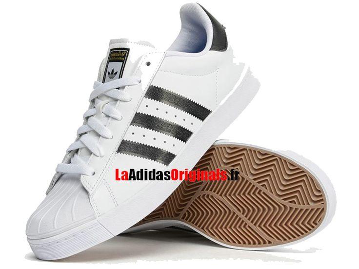 Adidas Skateboarding Superstar Vulc ADV - Chaussure Adidas Originals Pas Cher Pour Homme/Femme Blanc/Noir D68718-Boutique Adidas Originals de Running (FR) - LaAdidasOriginals.fr