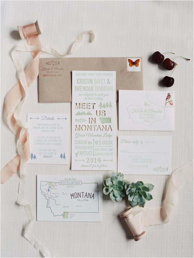Montana wedding invitations | Photography: @rachel_catlett