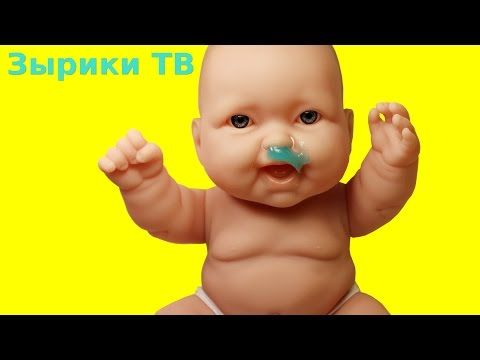 Дочки-матери с куклой Пупсик Как Мама лечит Зеленые Сопли как Слизь Пупсик пьет. Игрушки для Девочек - YouTube