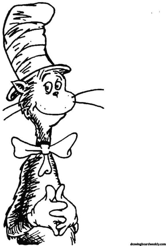 Cat In The Hat Coloring Page Dr Seuss Coloring Pages Coloring Pages Cartoon Coloring Pages