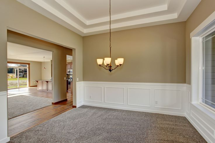 This Formal Dining Room Features A Double Coffer Ceiling