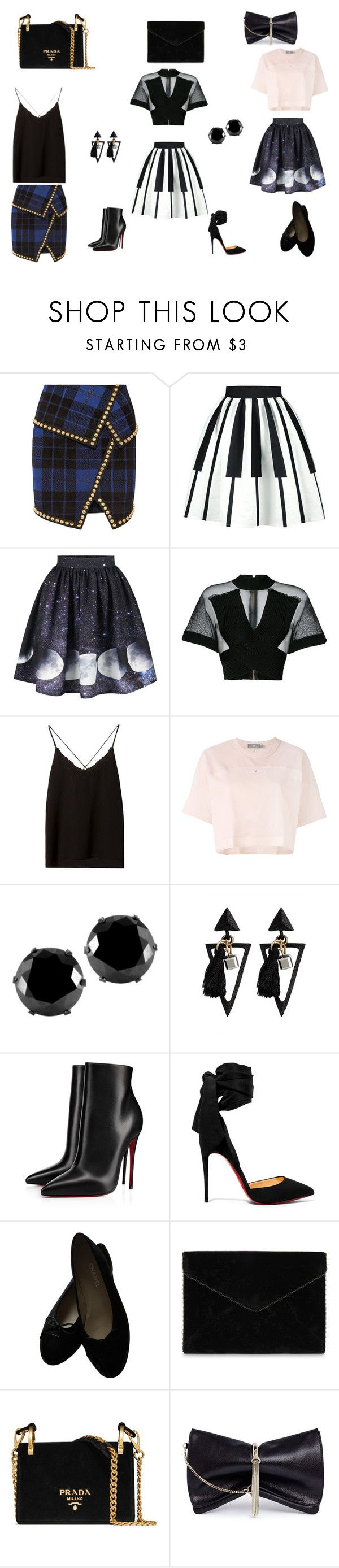 """""""to much to take"""" by skamex on Polyvore featuring Balmain, Massimo Dutti, adidas, West Coast Jewelry, Christian Louboutin, Chanel, Rebecca Minkoff, Prada and Jimmy Choo"""
