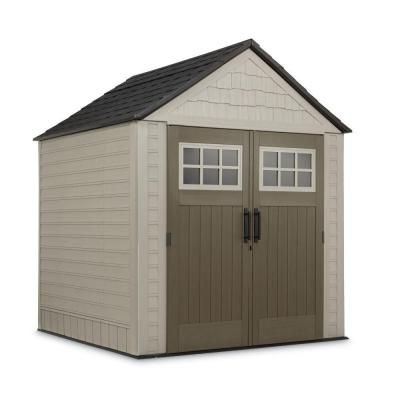 Unique Rubbermaid ft x ft Big Max Storage Shed with Accessories