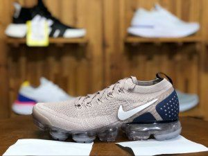 85e1d0ec1ffb Mens Nike Air VaporMax Flyknit 2 Diffused Taupe Blue Void Sepia Stone  Phantom 942842 201 Male