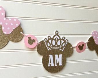 Rosa Minnie Mouse cortados oro y rosa arcos de oro por CricketCuts