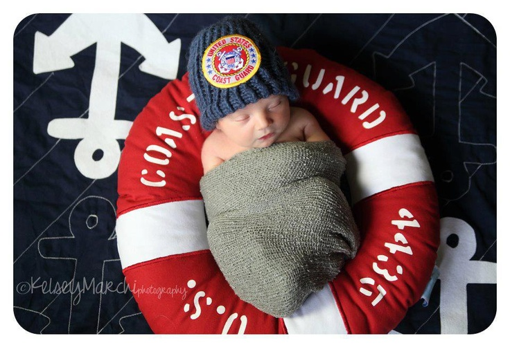 Coast Guard Baby, so cute wish i did this!