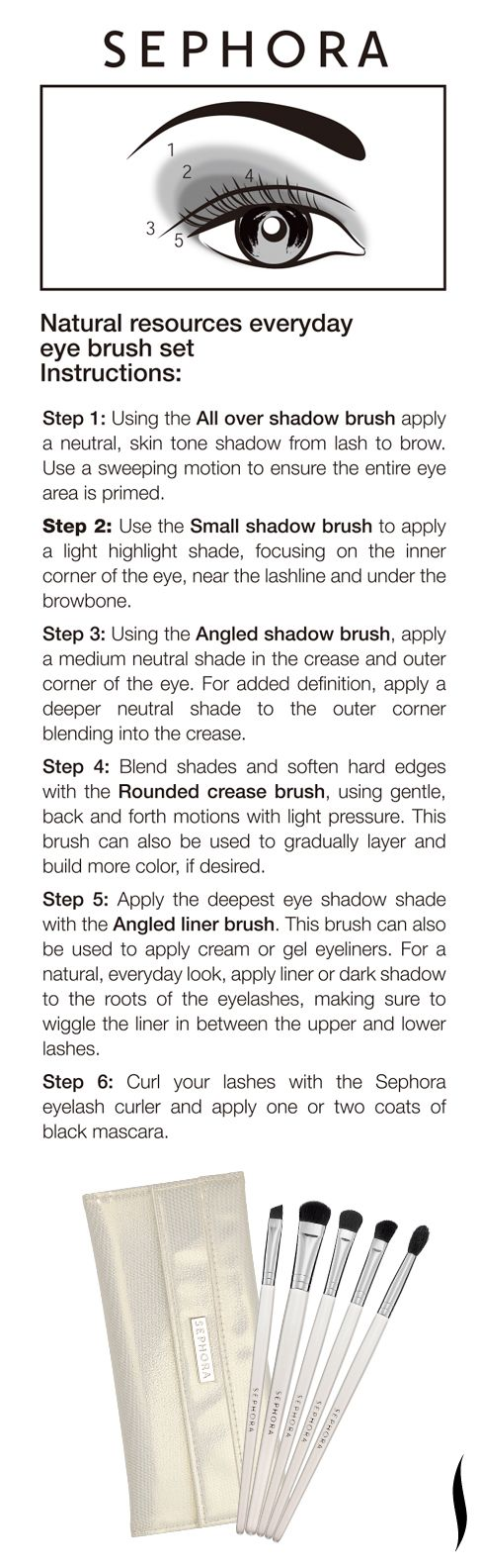 Beauty How To: #SEPHORA COLLECTION Natural Resources Everyday Eye Brush Set >> This is a great kit!
