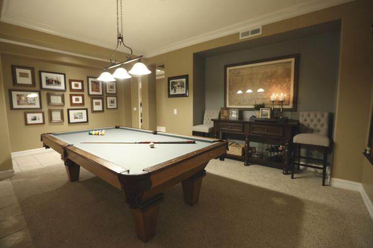 51 best basement pool table images on pinterest for Basement billiard room ideas