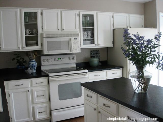 White Kitchen Black Countertop best 25+ black counters ideas only on pinterest | dark countertops