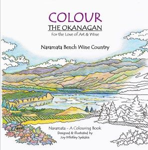 FIND our Wine Inspired Colouring Book -  Naramata Bench Wine Country from Colour the Okanagan Illustrations Company HERE Purchase yours today! adult colouring book  British Columbia, Canada