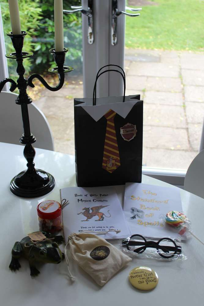 Fun favors at a Harry Potter birthday party! See more party ideas at CatchMyParty.com!