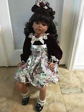 """Моника левениг 26"""" виниловая кукла 2003. 184/250 карие глаза длинные черные волосы"""