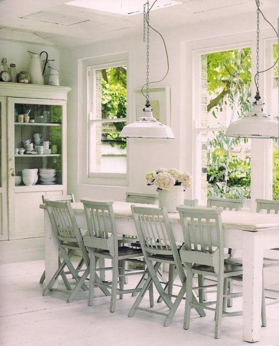 Lovely dining room-- great lighting #whi - http://myshabbychicdecor.com/lovely-dining-room-great-lighting-whi/ - #shabby_chic #home_decor #design #ideas #wedding #living_room #bedroom #bathroom #kithcen #shabby_chic_furniture #interior interior_design #vintage #rustic_decor #white #pastel #pink