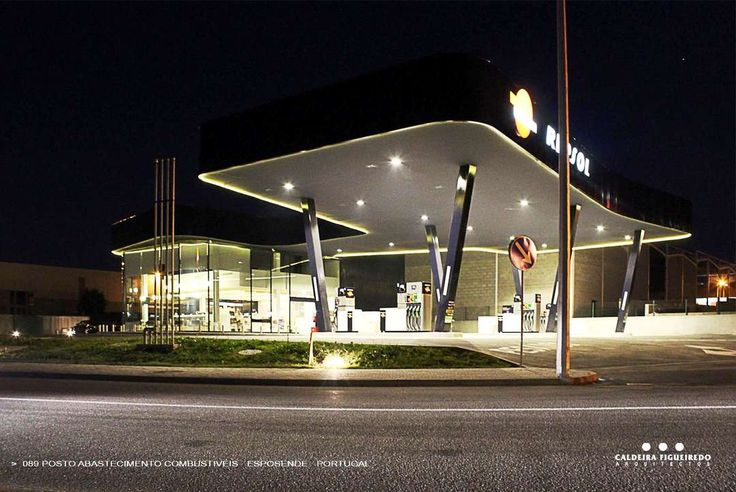 Esposende Gas Station by Caldeira Figueiredo Architects, Esposende, Portugal  2013